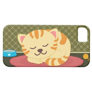 Cute kitty cat sleeping fun iphone 5 casemate iPhone 5 cases
