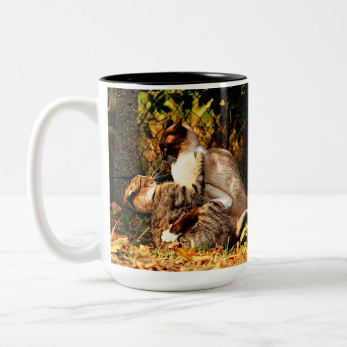 Cute  Kitty Cat Two_Tone Coffee Mug