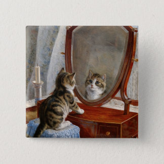Cute Kitty Cat Vintage Art Pinback Button