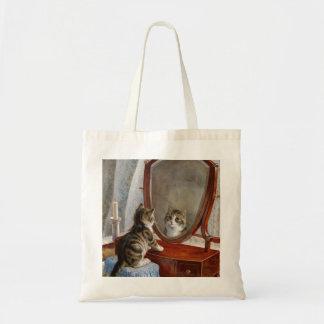 Cute Kitty Cat Vintage Art Tote Bag