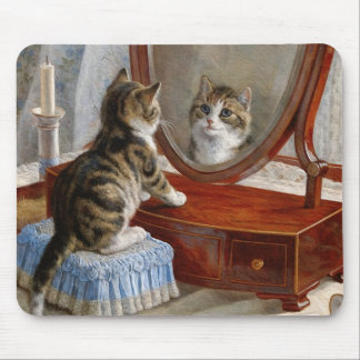 Cute Kitty Cat Vintage Painting by Frank Paton Mouse Pad