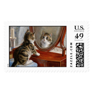 Cute Kitty Cat Vintage Painting by Frank Paton Postage