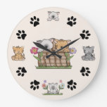 Cute Kitty Cat Wall Clock