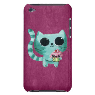 Cute Kitty Cat with Kawaii Cupcake iPod Case-Mate Case