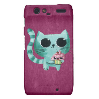 Cute Kitty Cat with Kawaii Cupcake Droid RAZR Covers