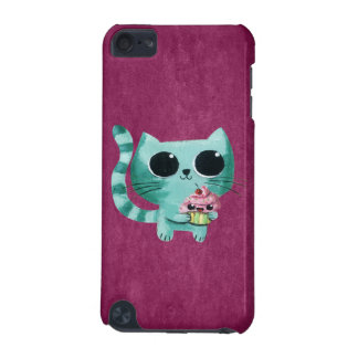 Cute Kitty Cat with Kawaii Cupcake iPod Touch (5th Generation) Cases