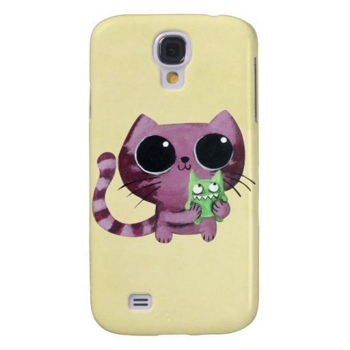 Cute Kitty Cat with Little Green Monster HTC Vivid / Raider 4G Case