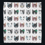 """Cute kitty cats illustration design bandana<br><div class=""""desc"""">Cute kitty cats illustration design bandana,  perfect gift for all cats lover</div>"""