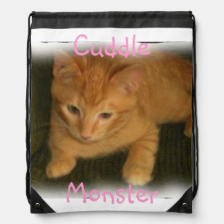 """Cute Kitty """"Cuddle Monster"""" Backpack"""