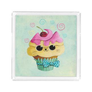 Cute Kitty Cupcake Acrylic Tray