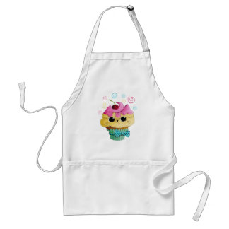 Cute Kitty Cupcake Adult Apron