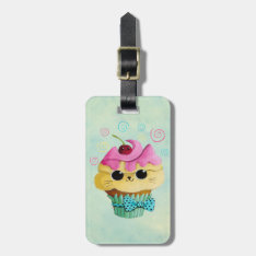 Cute Kitty Cupcake Bag Tag at Zazzle