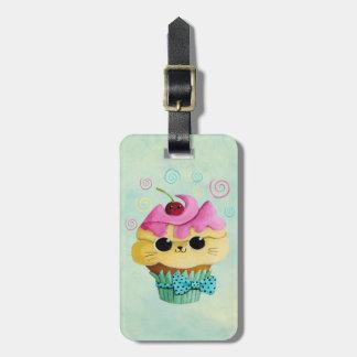 Cute Kitty Cupcake Bag Tag