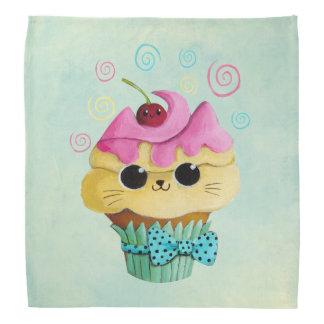 Cute Kitty Cupcake Bandana