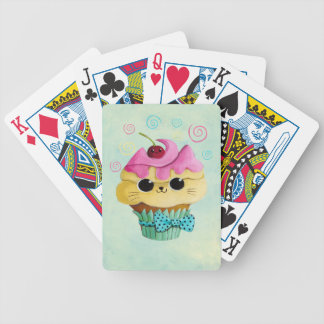 Cute Kitty Cupcake Bicycle Playing Cards