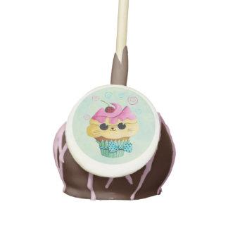 Cute Kitty Cupcake Cake Pops