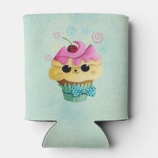 Cute Kitty Cupcake Can Cooler