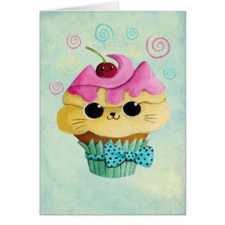 Cute Kitty Cupcake Card