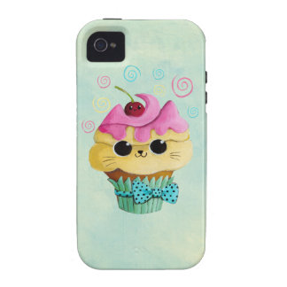 Cute Kitty Cupcake Case For The iPhone 4