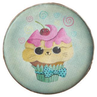 Cute Kitty Cupcake Chocolate Dipped Oreo
