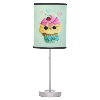 Cute Kitty Cupcake Desk Lamp