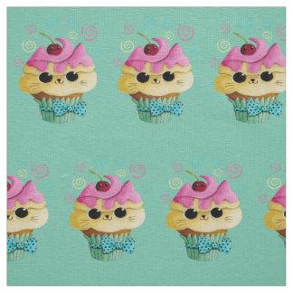 Cute Kitty Cupcake Fabric