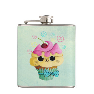 Cute Kitty Cupcake Flask