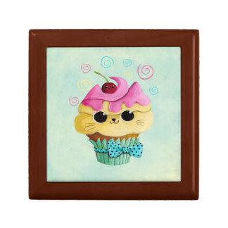 Cute Kitty Cupcake Keepsake Box