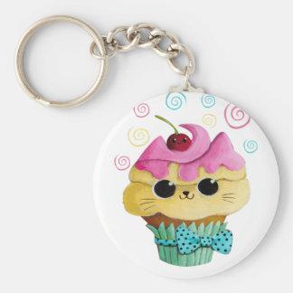 Cute Kitty Cupcake Key Chains