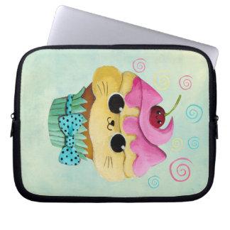 Cute Kitty Cupcake Laptop Sleeve