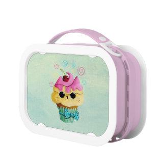 Cute Kitty Cupcake Lunch Box