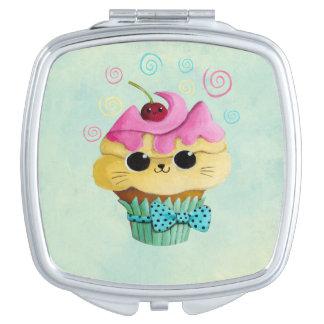 Cute Kitty Cupcake Makeup Mirror