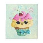 Cute Kitty Cupcake Note Pads