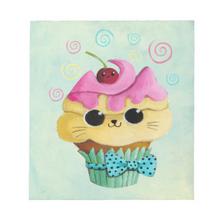 Cute Kitty Cupcake Notepad