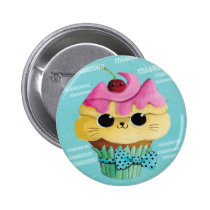 artsprojekt, cupcake cat, cupcake kawaii cat, cute cupcake cat, kawaii cupcake, cute cupcake, cartoon cupcake, cartoon cat cupcake, summer cupcake, summer kawaii, cute cupcake kitten, kawaii cupcake kitten, kawaii kitten, cat, kitty, kitten, cupcake, summer, dessert, Button with custom graphic design