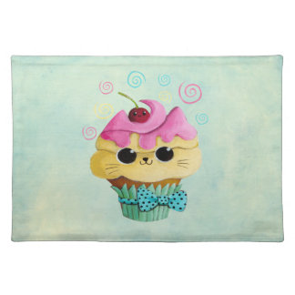 Cute Kitty Cupcake Place Mat