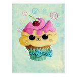 Cute Kitty Cupcake Post Cards