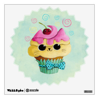 Cute Kitty Cupcake Room Decals
