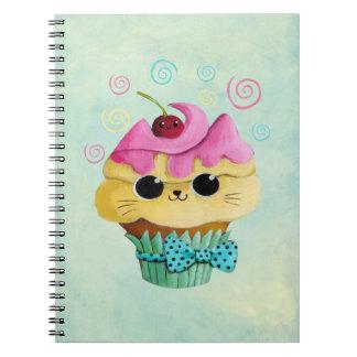 Cute Kitty Cupcake Spiral Notebook