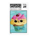 Cute Kitty Cupcake Stamp