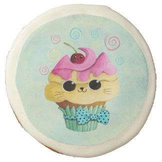 Cute Kitty Cupcake Sugar Cookie
