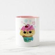 artsprojekt, cupcake cat, cute cupcake, kawaii, cute food, kawaii cat, kawaii cupcake, cat, kitten, cupcake, kawaii food, kitty cat, children, kids, kid, illustration, children illustration, nursery, Mug with custom graphic design