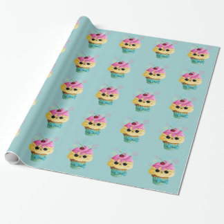 Cute Kitty Cupcake Wrapping Paper