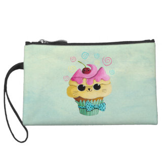 Cute Kitty Cupcake Wristlet