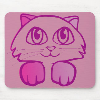 Cute kitty drawing mouse pad