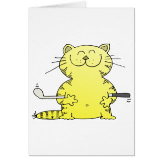 Cute Kitty Golfer Card