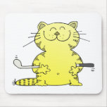 Cute Kitty Golfer Mouse Pad
