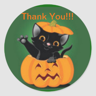 Halloween Thank You Stickers | Zazzle