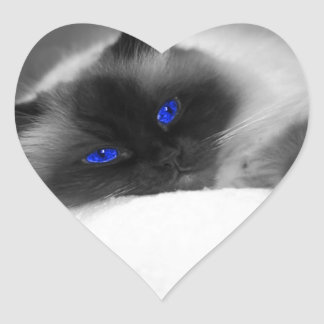 Cute Kitty Heart Sticker
