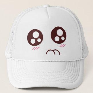 Cute kitty kawaii emoji trucker hat